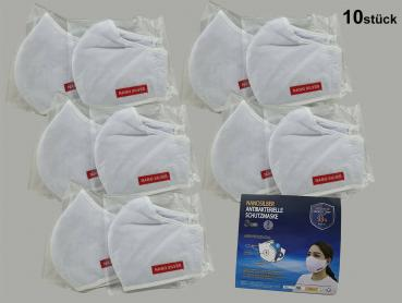 10x WASHABLE NANOSILBER BREATHING MASK ORAL PROTECTION MASK NEW 3-LAYER