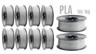 10er Prototyping MonoColor PLA Filament Grau RAL7042 Special Bigbox offer 16,9 €/kilo