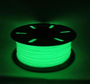 PETG 1,75mm - GLOW IN THE DARK Green (night bright) 1kg
