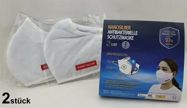 2x WASHABLE NANOSILBER BREATHING MASK ORAL PROTECTION MASK NEW 3-LAYER