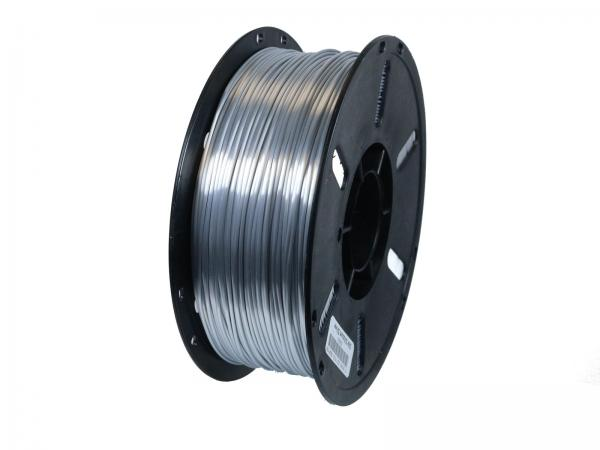 PLA+ Shiney Silk Silicium Silver / Silber Metallic 1,75mm 3D Drucker Filament 1kg